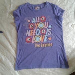 2/$16 Girls(XL)  retro Beatles t shirt